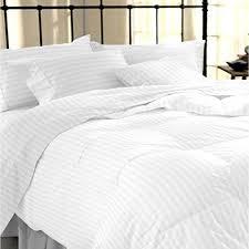 sapphire collection 100 stripe tc400 egyptian cotton white duvet cover set double