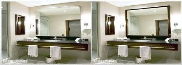 how to frame a bathroom mirror framed bathroom mirror houzz inside inspirations 1