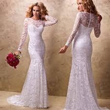 new design sheath lace wedding 2015 bridal dress long sleeve sweep