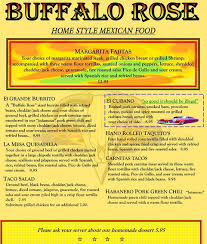 buffalo rose saloon menu menu for buffalo rose saloon golden