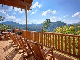 wrap around deck peaceful smoky mountain cabin with wrap around deck for sprawling