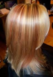 bob hair with high lights and lowlights photos of real hair behind my chair with a brief description of my