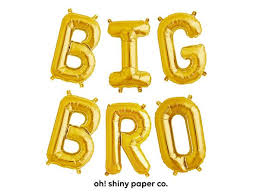 balloon letters big bro letter balloon kit oh shiny paper co