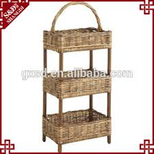 s u0026d wicker hamper rattan natural 3 layer storage basket nursery