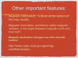 Magnetic Declination Map Topographic Maps Reading Contour Maps Topographic Maps Show The