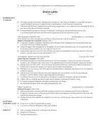 Respiratory Therapist Resume Sample by Sample Ot Resume Resume Cv Cover Letter New Massage Therapist