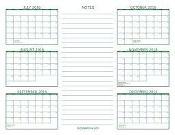 printable monthly calendars august 2015 6 month calendar 2016