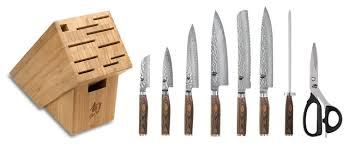 asian kitchen knives shun premier 9 gourmet knife block set asian knife sets