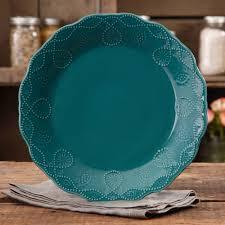 the pioneer lace teal dinner plate walmart