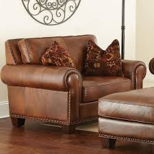 Brown Leather Chair And A Half Design Ideas Small Leather Chair With Ottoman Design Ideas Convertible