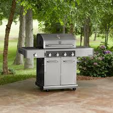 Backyard Grill 4 Burner by Kenmore Elite 600 Series 4 Burner Dual Fuel Stainless Steel Gas