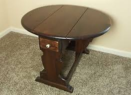 drop leaf end table ethan allen old tavern colonial dark antique pine drop leaf end