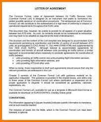 3 letter agreement template park attendant