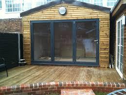 Garage Door Conversion To Patio Door Bi Folding Doors House Decoration Tips