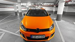 volkswagen orange volkswagen golf vi r by cam shaft and mtb with 325 hp