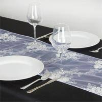 Sequin Table Runner Wholesale Silver Sequin Studded Chemical Lace Table Runner Efavormart