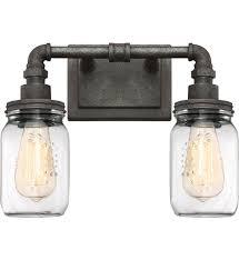 Quoizel SQRRK Squire Rustic Black  Light Bath Vanity - Bathroom vanities lighting 2