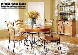 wrought iron dining table set wrought iron dining room sets a solid reclaimed distressed wood top