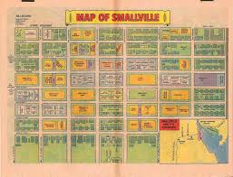 Map Of Dc Metro Fictional Map Of Dc Comics Smallville From Silver Bronze Age