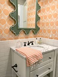 southern living bathroom ideas southern living idea house 2017 part 2 orange wallpaper southern