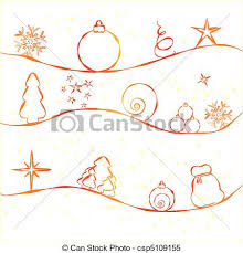 clipart vector of christmas card with simple christmas decorations