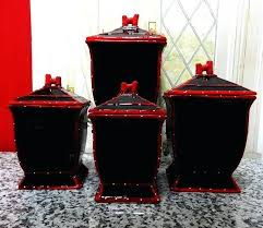 black kitchen canister sets black canister sets for kitchen for image of kitchen canister sets