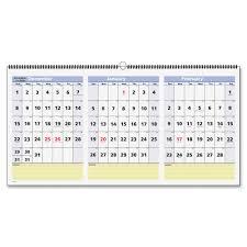 Wall Calendar Organizer System At A Glance Pm1528 Quicknotes 3 Mth Horiz Wall Calendar Julian