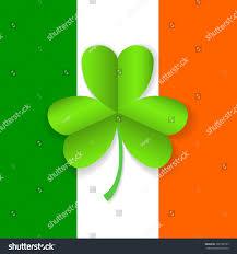 Shamrock Green Flag Ireland Green Shamrock Leaf On Stock Vector 380100799