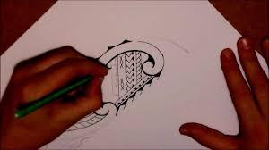 how to draw a tribal lower leg tattoo in samoan u0026 maori style