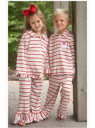 2014boutique children pajamas striped ruffled