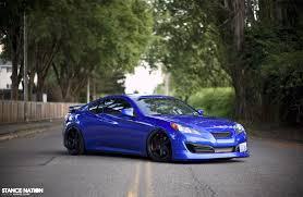 hyundai genesis stance blue hyundai genesis gt bad car whips