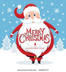 greeting card santa claus stock vector