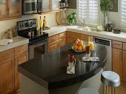 Corian Kitchen Countertop Kitchen Nice Corian Countertop With Black Butcher Block And