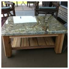 Patio Table Top Custom Outdoor Patio Table With Granite Top This One Was Just