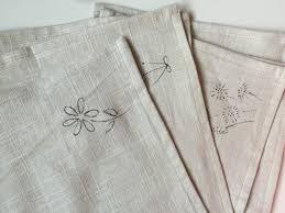 diy embroidered napkins