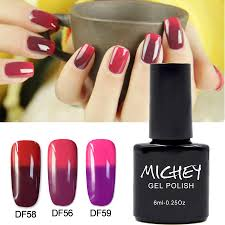 aliexpress com buy new brand michey uv gel shiny red french