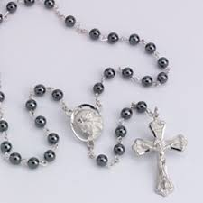hematite rosary snows shrine gift shop genuine hematite rosary