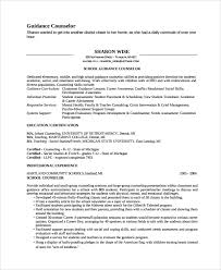 guidance counselor resume sle guidance counselor resume 8 free documents in