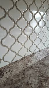 Best Grout For Kitchen Backsplash Arabesque Lantern Tile With Oyster Gray Grout Home Improvement