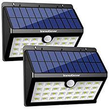 solar lighting innogear upgraded solar lights 30 led wall light outdoor security