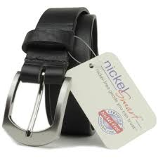 allergic to belt buckle us made nickel free black leather belt with black bottle opener buckle