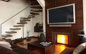 wall mount electric fireplace with tv above fireplace ideas