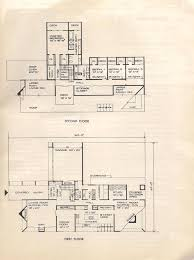 Mid Century Modern House Plan Vintage House Plans Huge Mid Century Modern 4 Bedroom Split