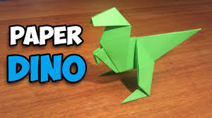 how to make an easy origami dinosaur youtube