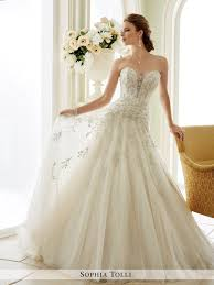 Wedding Dresses Manchester Strapless Tulle A Line Wedding Dress Sophia Tolli Y21670