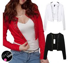 black shrug sweater free ship black white blouse sleeve bolero crop