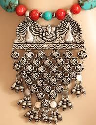 ethnic necklace design images Artisan tribal designer ethnic silver gemstone necklace at 12950 jpg