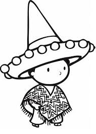 mexican hat colouring pages 2 clip art library