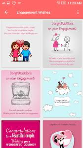 wishes for engagement cards engagement wishes congratulations greeting cards android apps