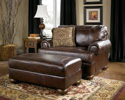 Leather Couches Ashleys Ashley Axiom Leather Living Room - Leather chairs living room